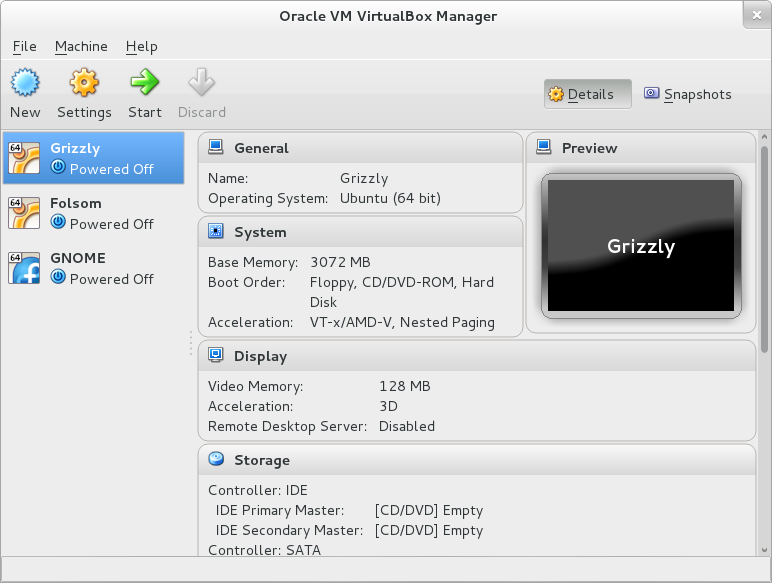 VirtualBox - Main
